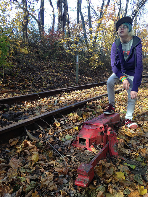 Sarah and Chris took a November hike along the Heritage Rail Trail County Park here in York County and found an old switch.