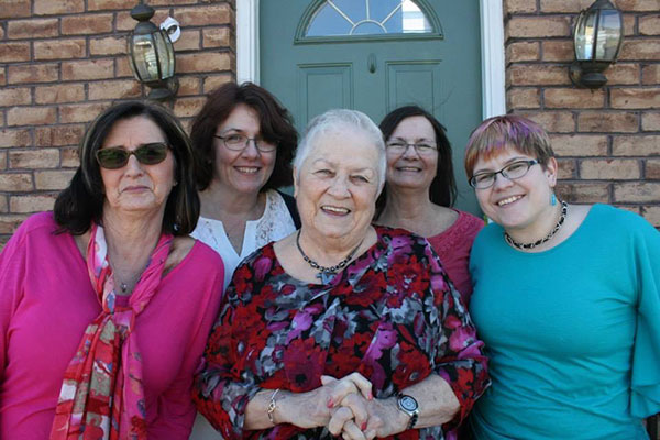 A big thing this month was celebrating my mom's 80th birthday. That's her in the center, with me at right and the rest of my sisters around her. We love you, Mom!