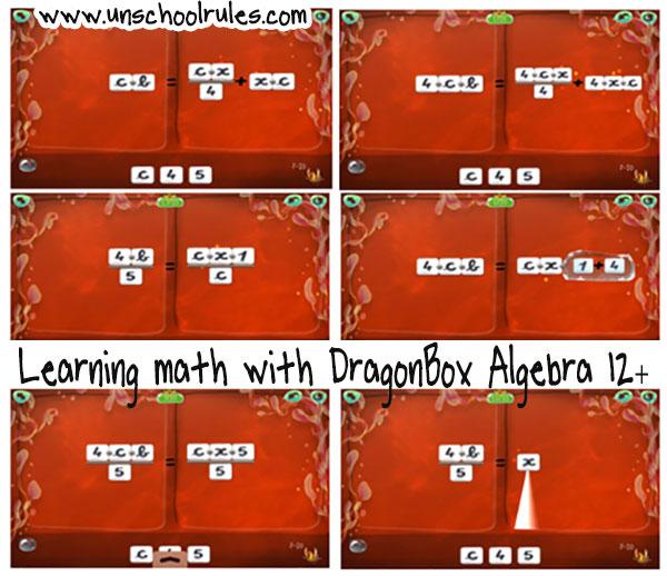 DragonBox Algebra 12+ algebra app