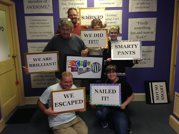 We escaped the room! This was a great way to spend an hour. We can't wait to go back and do the 1950s police-themed room and the soon-to-open Sherlock Holmes one!
