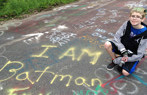 Part of the fun of visiting Centralia, an abandoned town with an abandoned section of highway now turned into a living art project, is finding your favorite graffiti!