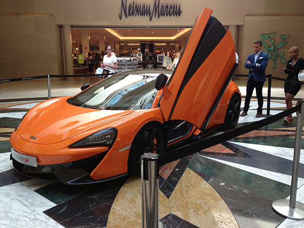 We went to the King of Prussia Mall, a huge mall about two hours away. In it, we found this McLaren. You know, a car that costs a mortgage? Sarah wanted it.