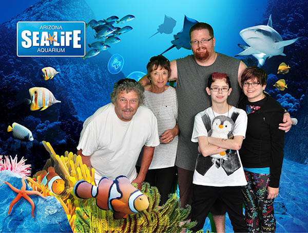 We went to both the Sea Life aquarium and a butterfly garden with Dan's parents, Paul and JoAnne, in Phoenix. Oh, also, the penguin's name is Phoenix.