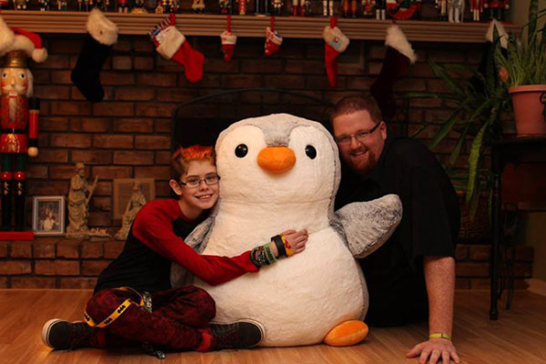 I surprised Ashar and Dan with a Giant Penguin. His name is Hoogerheide. (We kind of have A Lot of Penguins. Click this photo to see more of them.)