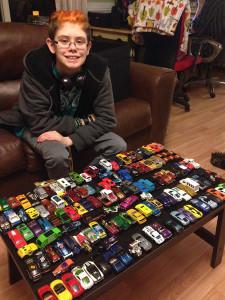 Ashar sorted her Matchbox and Hot Wheels cars. She has a few.