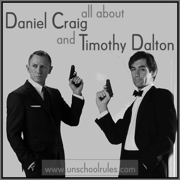 Daniel Craig and Timothy Dalton as James Bond