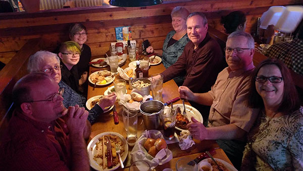 Sarah celebrated her 16th birthday March 24, and what she wanted more than anything was for our extended family to go to Texas Roadhouse for dinner. That's us, minus Dan, who had to take the photo. Also, Texas Roadhouse on a Thursday night? Kind of a zoo and very crowded.
