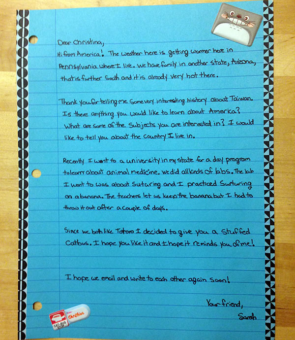Unschooling in April 2016: Letter to a Taiwanese pen pal