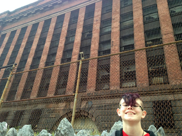 Unschooling in November 2016: Sarah and Chris went exploring in downtown York and visited the old York County Prison, long since unoccupied.
