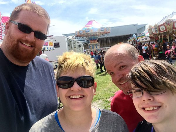 Unschool Rules unschooling wrapup - carnival selfie