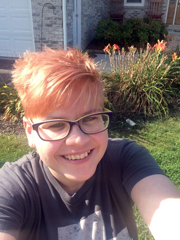 Unschooling in August 2017 on Unschool Rules: I got a new haircut to go with my new glasses!