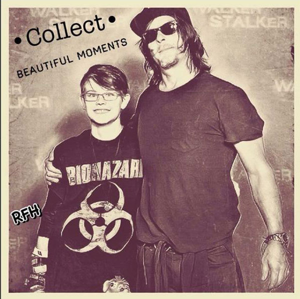 Unschool Rules: On Heroes and Norman Reedus - Ashar Otto and Norman Reedus, Oct. 1, 2017 (photo edit by Ashar, @reedusfandomhome on Instagram)
