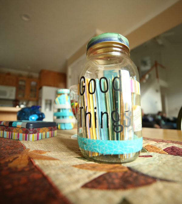 A Good Things Jar invites family members to celebrate big and small moments (Unschool Rules).