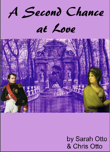 Unschooling in November 2017 on Unschool Rules: Chris and Sarah's book cover for A Second Chance at Love, starring... Napoleon. And one of Chris' postcards. And Josephine.
