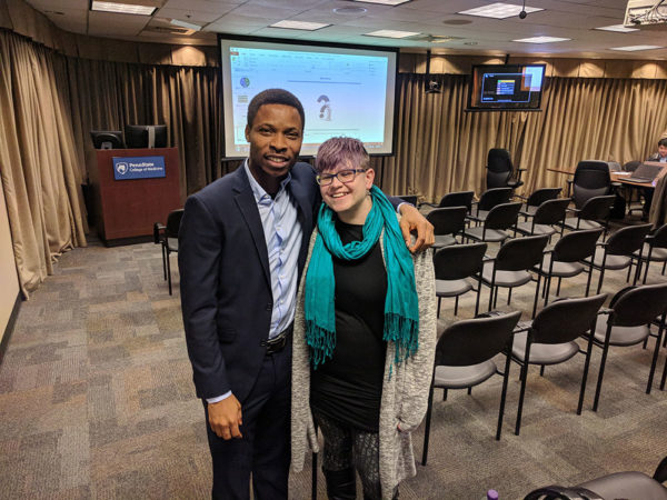 Unschooling in November 2017 on Unschool Rules: I got to meet a grad school classmate and friend from Nigeria when he came to our college campus to give a talk. It was pretty crazy to be standing together!