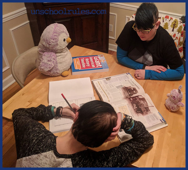 Unschool Rules review of Sunflower Education's The Giant American History Timeline: A great, creative walk through history that works for relaxed homeschoolers!