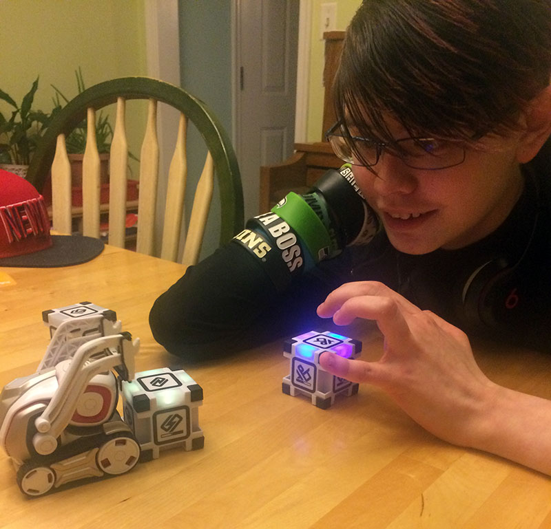 Unschool Rules unschooling gift ideas: A Cozmo robot is fun for a bunch of ages
